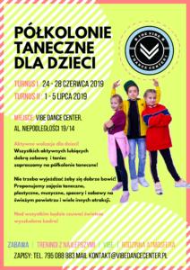 Półkolonie taneczne dla dzieci lato 2019 Warszawa Mokotów